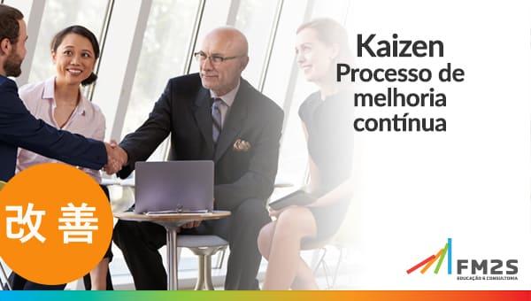 banner de kaizen, curso fm2s que aborda melhorias para a produção enxuta